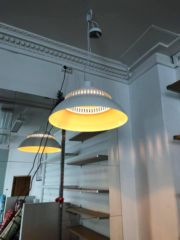UFO taklampe hvit 50 cm Ruth 66